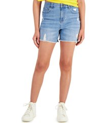 """style & co high rise 5"""" cheeky denim shorts, created for macy's"""