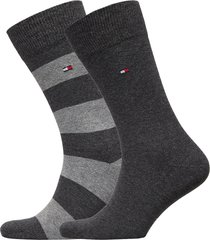 th men rugby sock 2p underwear socks regular socks grå tommy hilfiger