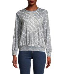 saks fifth avenue women's cobra-print sweatshirt - grey - size xl