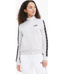 amplified full zip trainingsjack voor dames, wit, maat s | puma