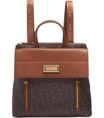 calvin klein belfast signature flap backpack