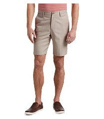 reserve collection tailored fit flat front shorts by jos. a. bank