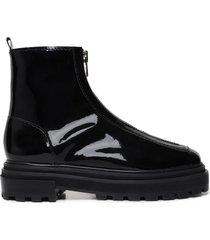 maryele bootie - 10 black patent leather