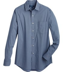 cole haan grand.øs. navy mini check sport shirt