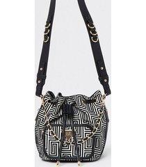 river island womens black jacquard duffle bag