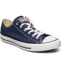 all star canvas ox låga sneakers blå converse