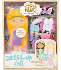 story magic wooden dress-up doll