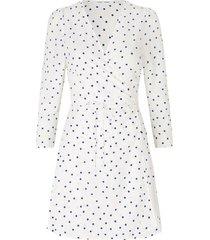 britt s wrap dress aop 10864 - clematis dot