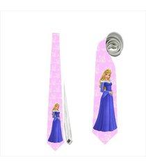 necktie tie the sleeping beauty aurora princess pink