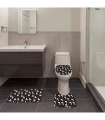 jogo de banheiro natal lhama preto único