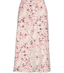 slfrebekka mw midi slit skirt b knälång kjol rosa selected femme