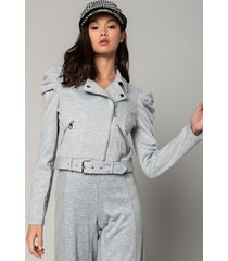 akira it's the sleeves for me puff sleeve belted moto jacket