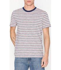 selected homme slhkasper stripe ss o-neck tee w ca t-shirts & linnen offwhite