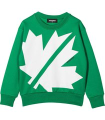 dsquared2 green sweatshirt teen