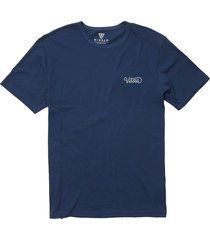 men's vissla very regular logo graphic tee, size x-large - blue