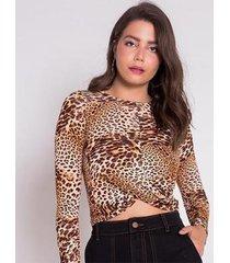 blusa areazul estampada feminina - feminino