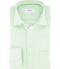 eton overhemd classic fit groen