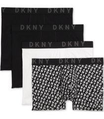 dkny men's 4-pk. cotton stretch trunks