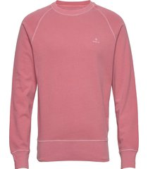 d2. sunfaded c-neck sweat sweat-shirt trui roze gant