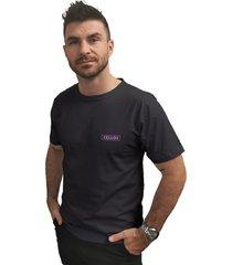 camiseta cellos box logo premium preto - preto - masculino - dafiti