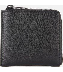 maison margiela men's leather zip wallet - black