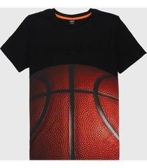 camiseta negro-rojo desigual