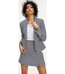 tommy hilfiger women's nautical stripe blazer white/navy stripe - 10