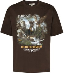 phipps protect forest life t-shirt - brown