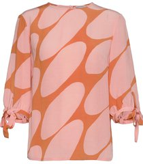 hennon linssi shirt blouse lange mouwen roze marimekko