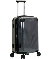 "rockland 20"" transparent hardside carry-on spinner"
