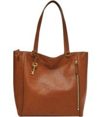 fossil tara leather shopper
