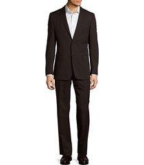 pinstripe wool cut suit