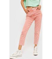 pantalón jacqueline de yong rosa - calce ajustado
