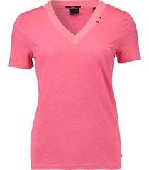 t-shirt v neck roze