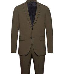 plain mens suit kostym grön lindbergh