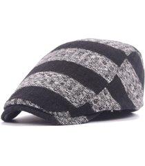 uomo donna maglia a righe da berretto da cappello adjustable newsboy cabbie