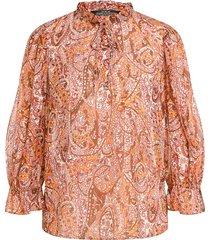 blouse met paisley print isra  rood