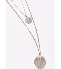 loft disc layered pendant necklace