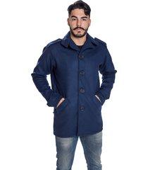 casaco blazer carbella lã batida azul-marinho - kanui