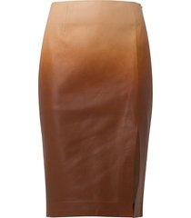 dorothee schumacher degradé softness leather pencil skirt - 057