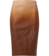 dorothee schumacher degradé softness leather pencil skirt - 057