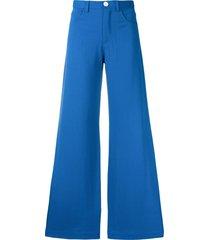 société anonyme paulette wide leg trousers - blue