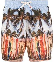 altea photographic-print swim shorts - blue
