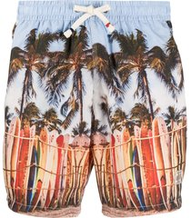 altea photographic-print swim shorts - blue