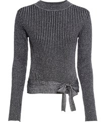 maglione incrociato con lurex (nero) - bodyflirt boutique