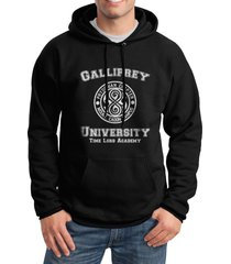 gallifrey university unisex pullover hoodie black s to 3xl doctor who