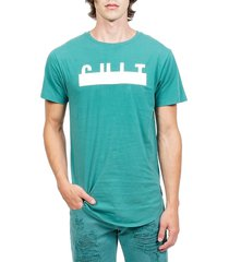 cult of individuality men's crewneck cotton tee - tidepool - size l