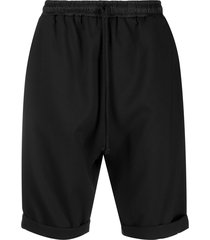 alchemy high-waisted dropped crotch shorts - black