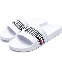 sandalia blanco tommy hilfiger