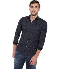 camisa azul-multicolor colore